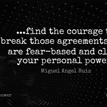Short Power Quote by Miguel Angel Ruiz about Encouraging,Courage,Fear for WhatsApp DP / Status, Instagram Story, Facebook Post.