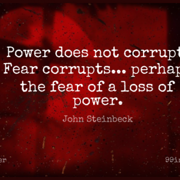 Short Power Quote by John Steinbeck about Fear,Loss,Atheism for WhatsApp DP / Status, Instagram Story, Facebook Post.