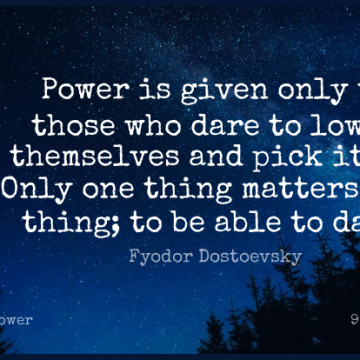 Short Power Quote by Fyodor Dostoevsky about Feet,Matter,Able for WhatsApp DP / Status, Instagram Story, Facebook Post.