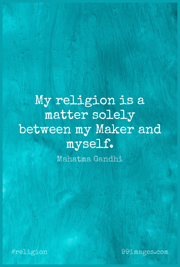 Short Religion Quote by Mahatma Gandhi about Matter,Makers for WhatsApp DP / Status, Instagram Story, Facebook Post. (503584) - Religion Quotes