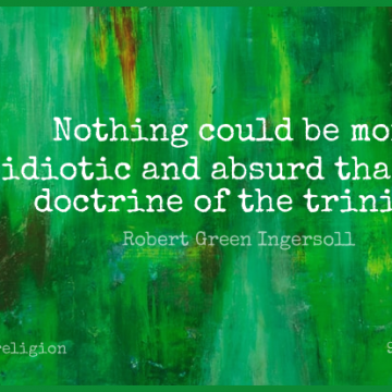 Short Religion Quote by Robert Green Ingersoll about Atheist,Atheism,Doctrine for WhatsApp DP / Status, Instagram Story, Facebook Post.