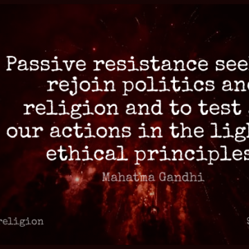 Short Religion Quote by Mahatma Gandhi about Ethical Principles,Light,Passive Resistance for WhatsApp DP / Status, Instagram Story, Facebook Post.
