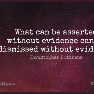 Short Religion Quote by Christopher Hitchens about Inspirational,Wisdom,Atheist for WhatsApp DP / Status, Instagram Story, Facebook Post.