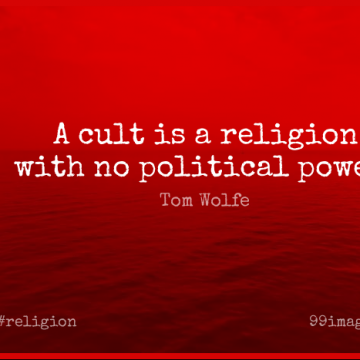 Short Religion Quote by Tom Wolfe about Religious,Philosophy,Power for WhatsApp DP / Status, Instagram Story, Facebook Post.