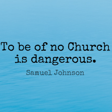 Short Religion Quote by Samuel Johnson about Church,Dangerous for WhatsApp DP / Status, Instagram Story, Facebook Post.