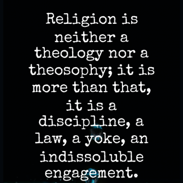 Short Religion Quote by Joseph Joubert about Law,Discipline,Yoke for WhatsApp DP / Status, Instagram Story, Facebook Post.