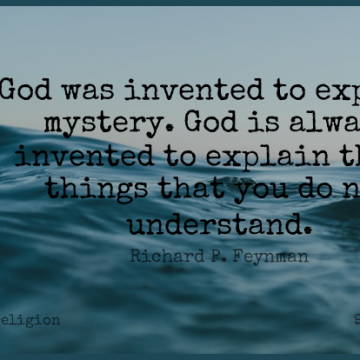 Short Religion Quote by Richard P. Feynman about Religious,Atheism,Mystery for WhatsApp DP / Status, Instagram Story, Facebook Post.