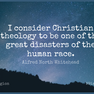 Short Religion Quote by Alfred North Whitehead about Christian,Race,Disaster for WhatsApp DP / Status, Instagram Story, Facebook Post.