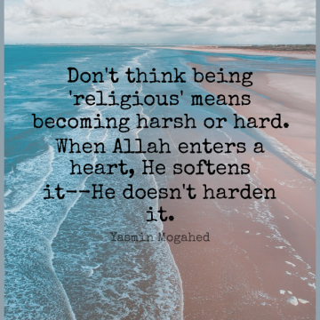 Short Religion Quote by Yasmin Mogahed about Inspirational,God,Religious for WhatsApp DP / Status, Instagram Story, Facebook Post.