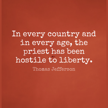 Short Religion Quote by Thomas Jefferson about Inspirational,Life,Birthday for WhatsApp DP / Status, Instagram Story, Facebook Post.