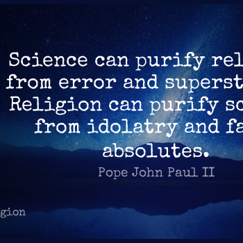 Short Religion Quote by Pope John Paul II about Science,Errors,Catholic for WhatsApp DP / Status, Instagram Story, Facebook Post.