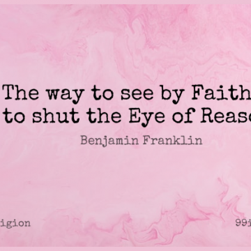 Short Religion Quote by Benjamin Franklin about Faith,Spiritual,Religious for WhatsApp DP / Status, Instagram Story, Facebook Post.