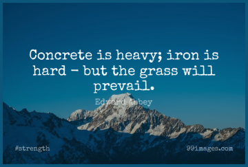 Short Strength Quote by Edward Abbey about Nature,Iron,Grass for WhatsApp DP / Status, Instagram Story, Facebook Post.