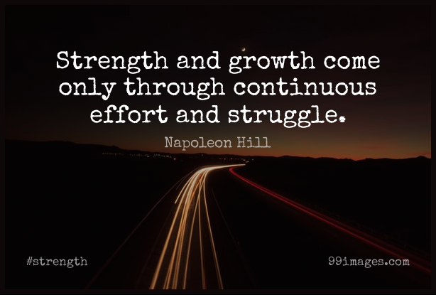 Short Strength Quote by Napoleon Hill about Success,Yoga,Inspiration for WhatsApp DP / Status, Instagram Story, Facebook Post.