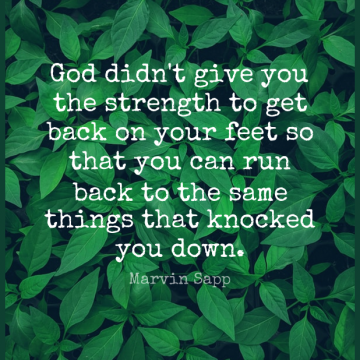 Short Strength Quote by Marvin Sapp about God,Christian,Running for WhatsApp DP / Status, Instagram Story, Facebook Post.