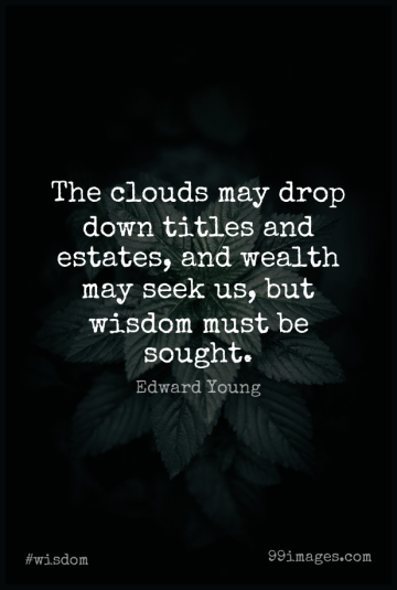 Short Wisdom Quote by Edward Young about Clouds,Titles,May for WhatsApp DP / Status, Instagram Story, Facebook Post.