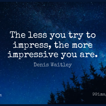 Short Wisdom Quote by Denis Waitley about Deep Thought,Trying,Wise Words for WhatsApp DP / Status, Instagram Story, Facebook Post.