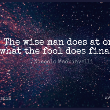 Short Wisdom Quote by Niccolo Machiavelli about Wise,Opportunity,Men for WhatsApp DP / Status, Instagram Story, Facebook Post.