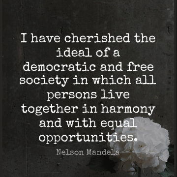Short Wisdom Quote by Nelson Mandela about Opportunity,Equality,Long Walks for WhatsApp DP / Status, Instagram Story, Facebook Post.