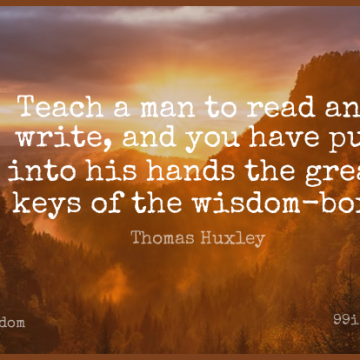 Short Wisdom Quote by Thomas Huxley about Writing,Men,Keys for WhatsApp DP / Status, Instagram Story, Facebook Post.