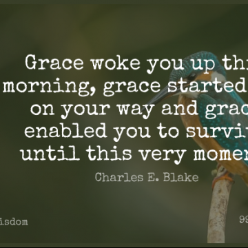 Short Wisdom Quote by Charles E. Blake about Christian,Spiritual,Morning for WhatsApp DP / Status, Instagram Story, Facebook Post.
