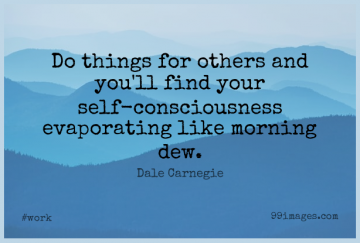 Short Work Quote by Dale Carnegie about Morning,Self,Dew for WhatsApp DP / Status, Instagram Story, Facebook Post.
