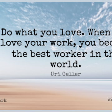 Short Work Quote by Uri Geller about Love,Inspire,World for WhatsApp DP / Status, Instagram Story, Facebook Post.