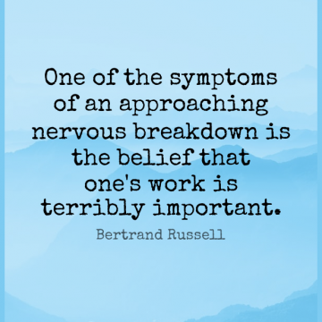 Short Work Quote by Bertrand Russell about Success,Stress,Humorous for WhatsApp DP / Status, Instagram Story, Facebook Post.