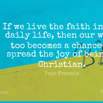 Short Work Quote by Pope Francis about God,Faith,Christian for WhatsApp DP / Status, Instagram Story, Facebook Post.