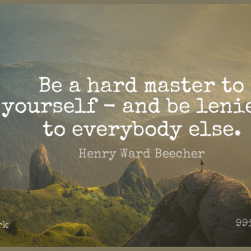 Short Work Quote by Henry Ward Beecher about Discipline,Lenient,Masters for WhatsApp DP / Status, Instagram Story, Facebook Post.