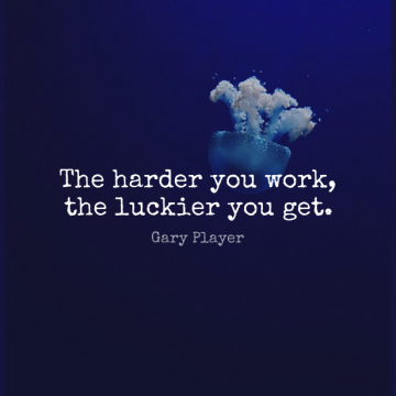 Short Work Quote by Gary Player about Inspirational,Motivational,Wrestling for WhatsApp DP / Status, Instagram Story, Facebook Post.