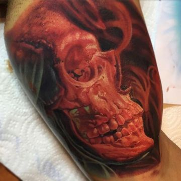 3d Skull Tattoo Design