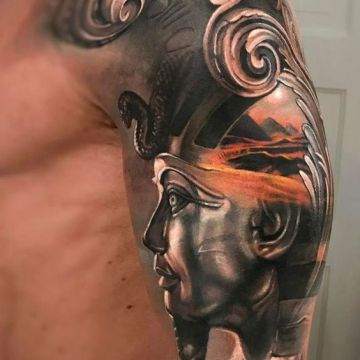 3d Realistic Shoulder Tattoo Design