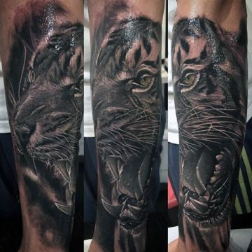 3d Lion Shoulder Tattoo Design