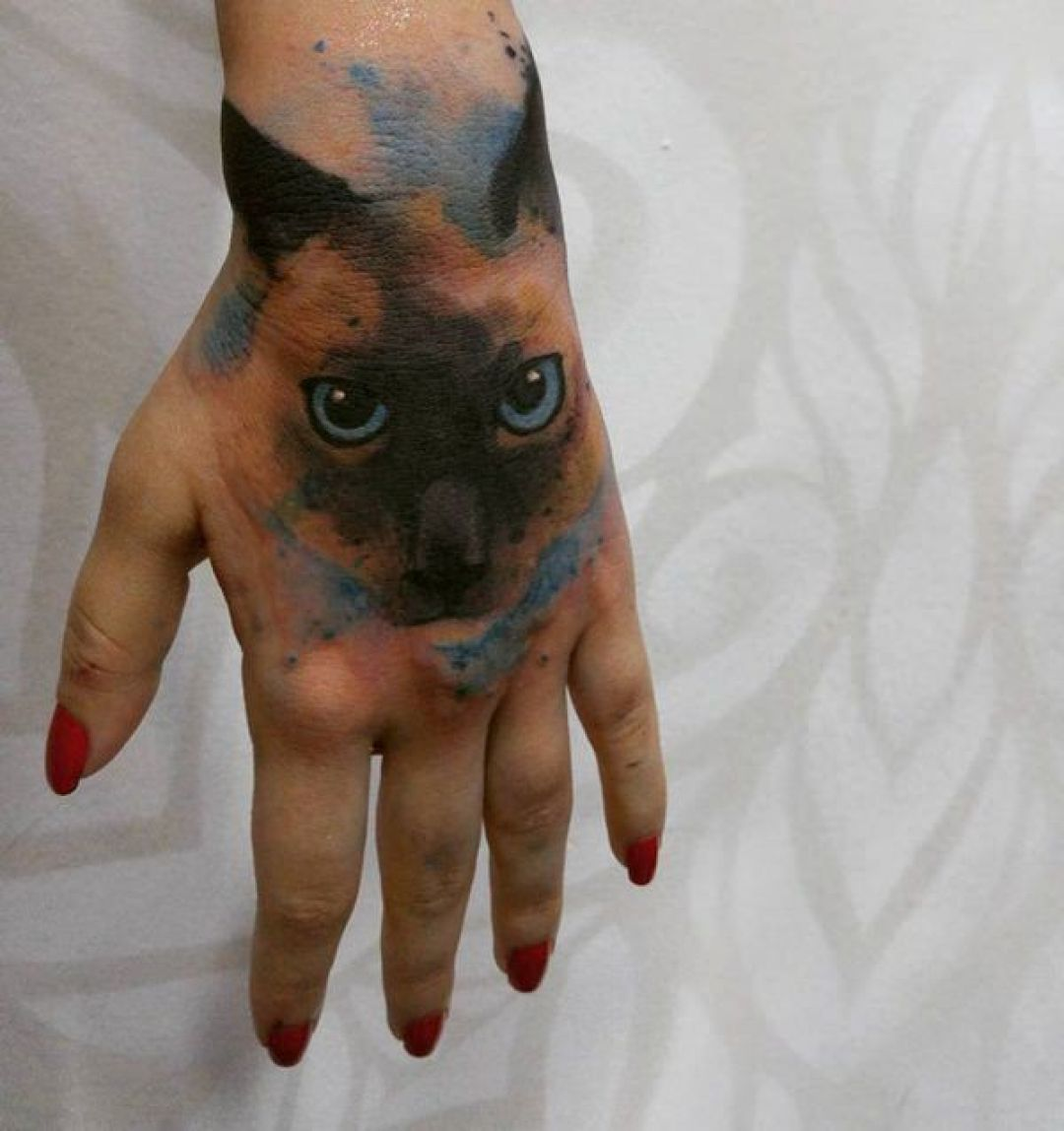 Cat Hand, Face Tattoo Design (240311) - Best  Tattoos