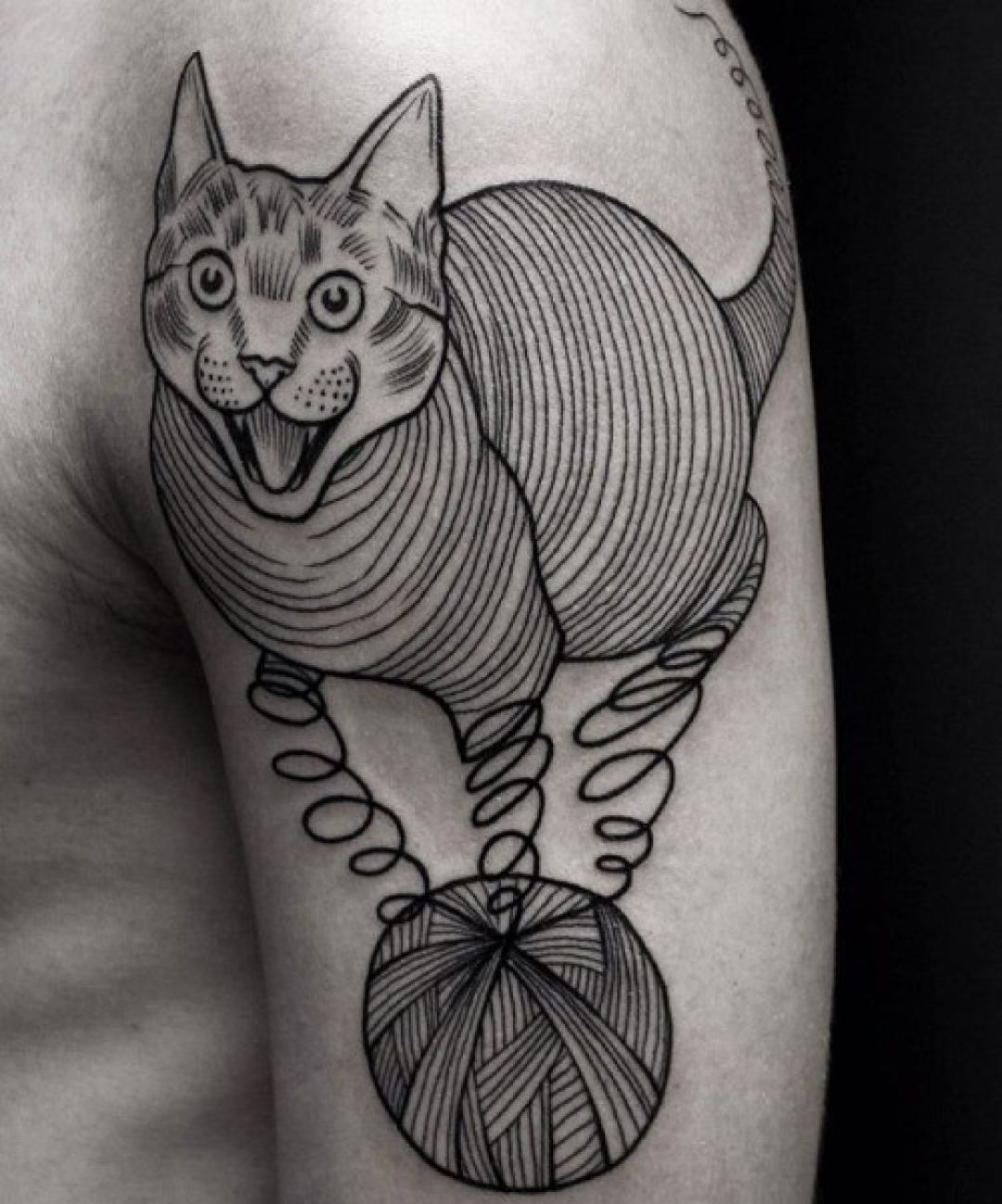Cat Shoulder Tattoo Design (290767) - Best  Tattoos