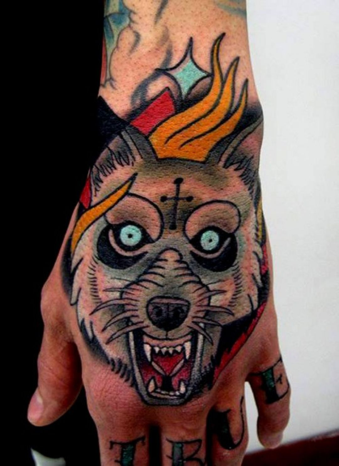 Evil Wolf Cross Hand Tattoo Design (240319) - Best  Tattoos