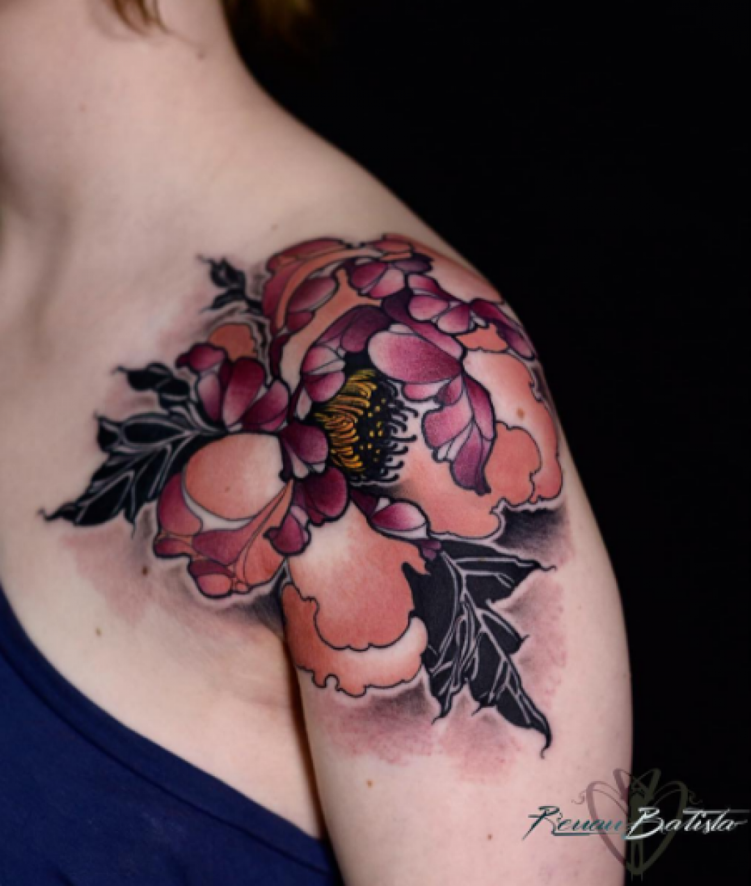 Flower Shoulder Tattoo Design (290934) - Best  Tattoos