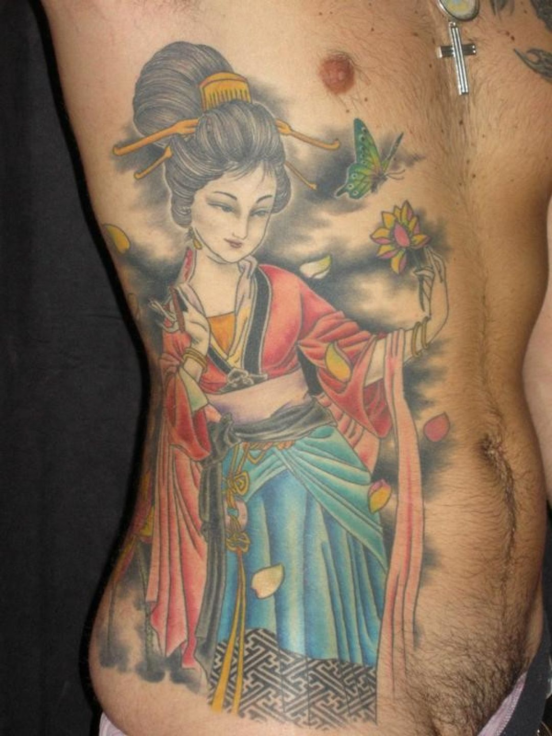 Geisha Flower Ribs Tattoo Design (286351) - Best  Tattoos