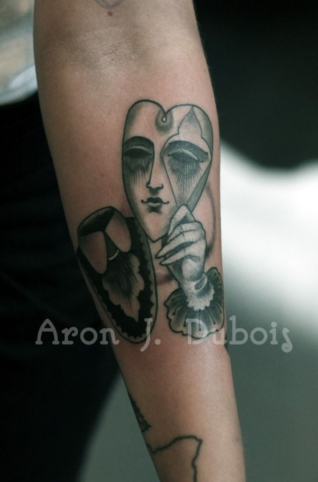 Heart Mask Hand, Forearm Tattoo Design (240454) - Best  Tattoos