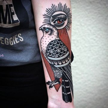 Eagle Eye Forearm Tattoo Design