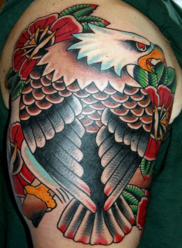 Eagle Shoulder Tattoo Design