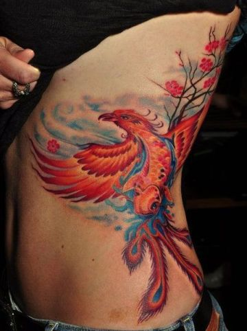 Phoenix Ribs Tattoo Design