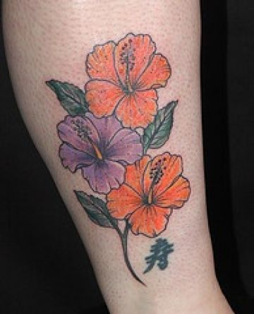 Purple & Orange Tattoo Design