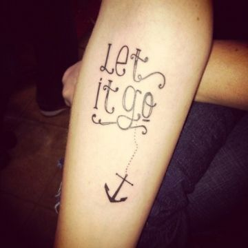 Quote Anchor Forearm Tattoo Design
