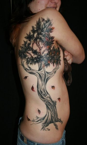 Tree Ribs Tattoo Design