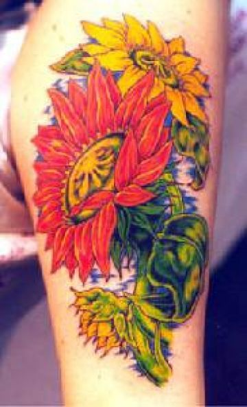 Yellow & Red Tattoo Design