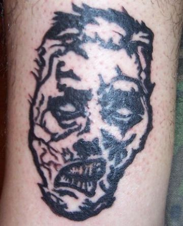 Zombie Face Tattoo Design For Women (female)