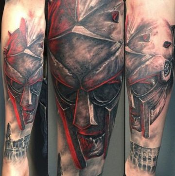 Zombie Gladiator Warrior Forearm Tattoo Design