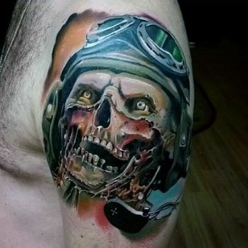 Zombie Shoulder Tattoo Design